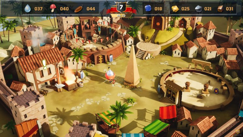 World of Warriors village hub