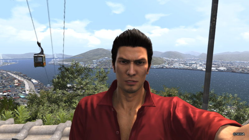 Yakuza 6: The Song of Life selfie à Onomichi