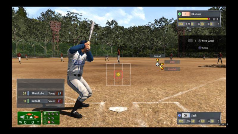 Yakuza 6: The Song of Life baseball