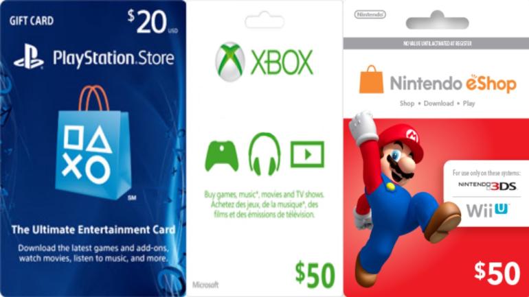 cartes rechargement solde en ligne - Xbox, Nintendo, Playstation