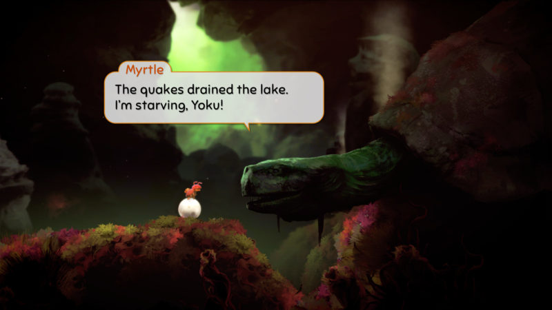 Yoku's Island Express tortue géante