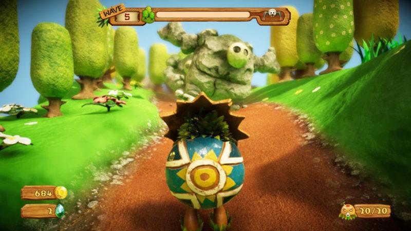 PixelsJunk Monsters 2 - arrivée des golems