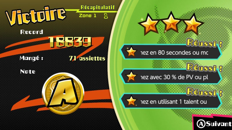 Sushi Striker: The Way of Sushido - Scoring et sous-missions