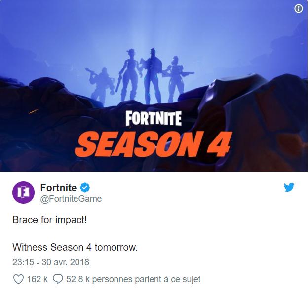 Fortnite - Annonce saison 4