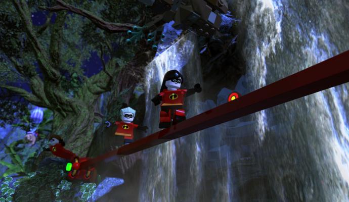 LEGO Les Indestructibles cascade