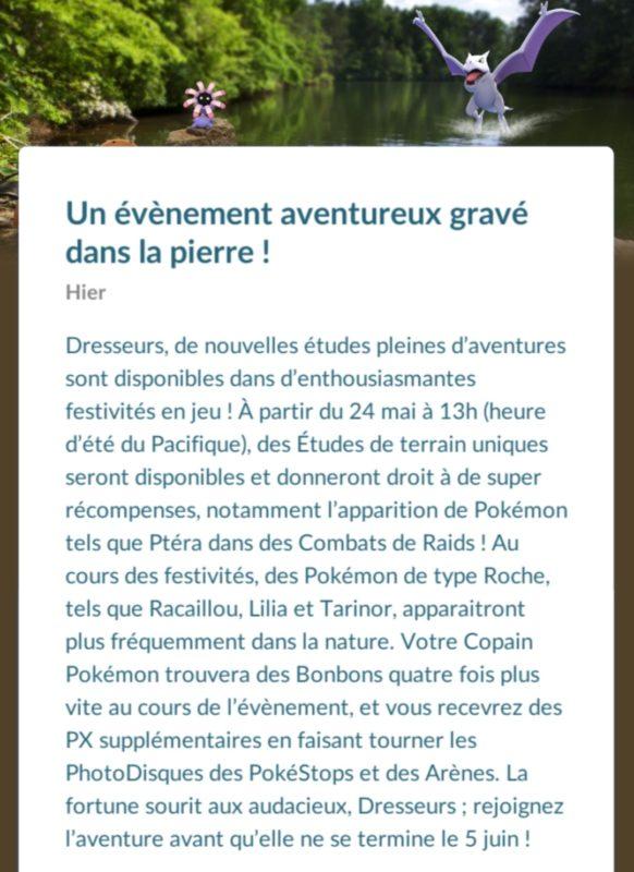 Pokémon GO - annonce semaine aventure