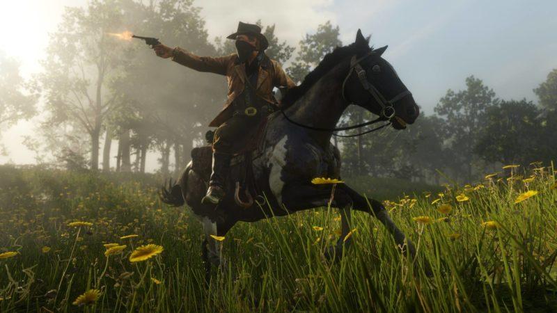 Red Dead Redemption II cheval tir