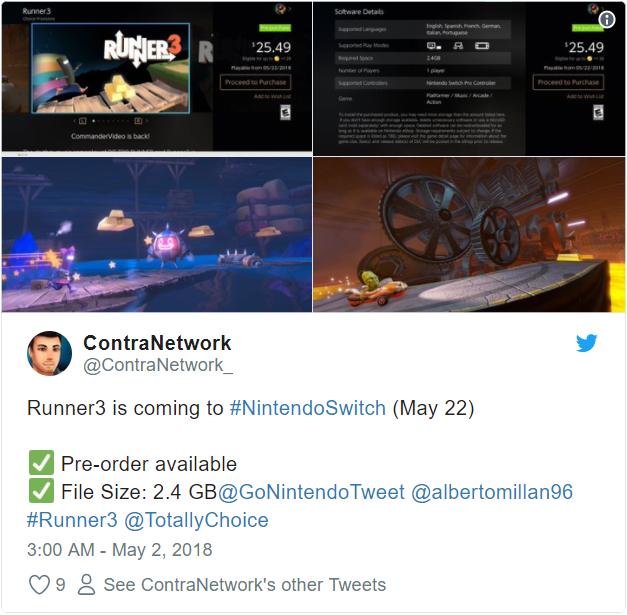 Runner3 - Tweet details