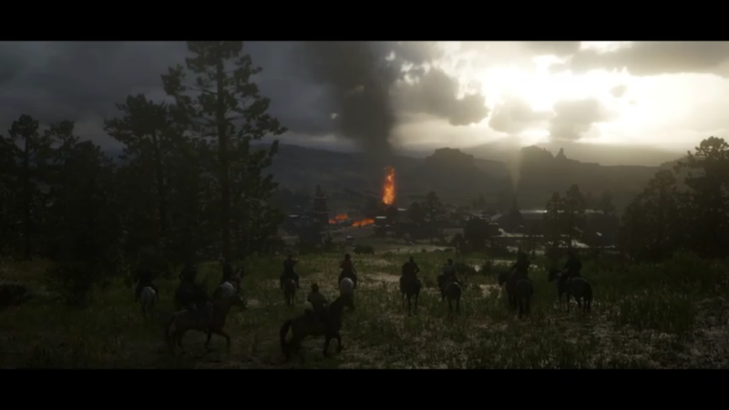 Red Dead Redemption 2 feu