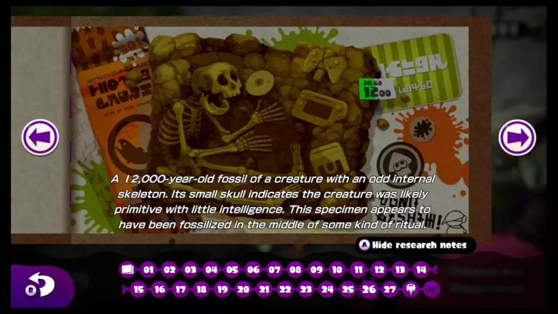 Splatoon - fossile humain