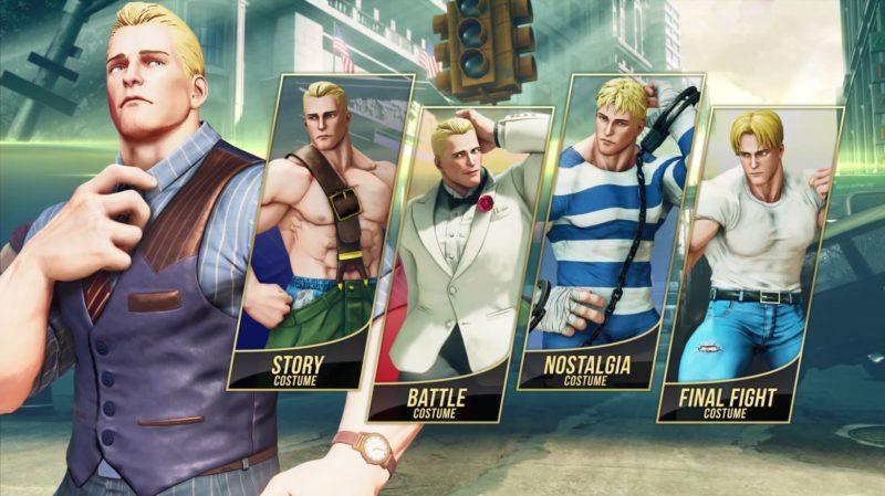 Street Fighter V: Arcade Edition costumes alternatifs de Cody
