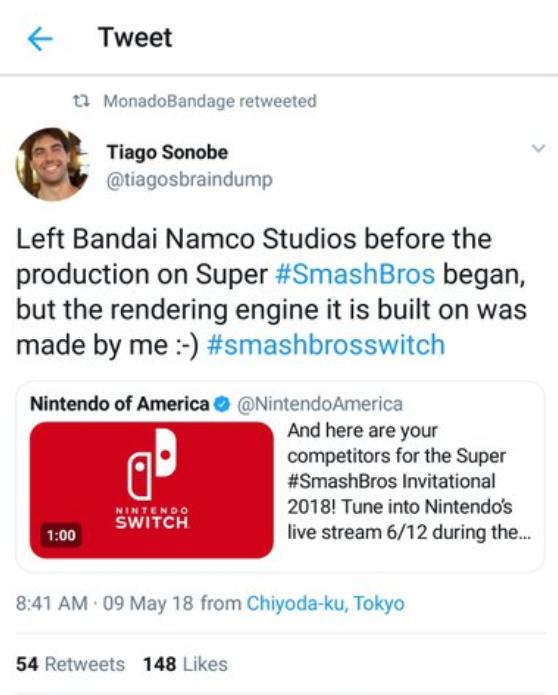 Super Smash Bros - tweet