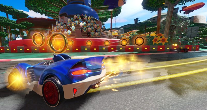 Team Sonic Racing Sonic amateur de rings