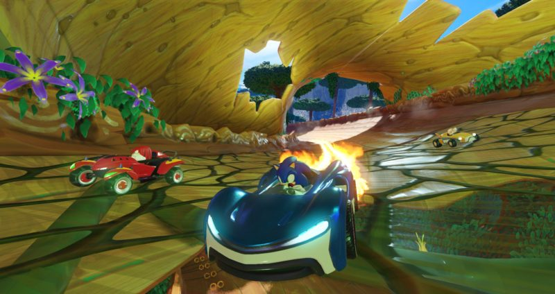 Team Sonic Racing Sonic et Knuckles en voiture