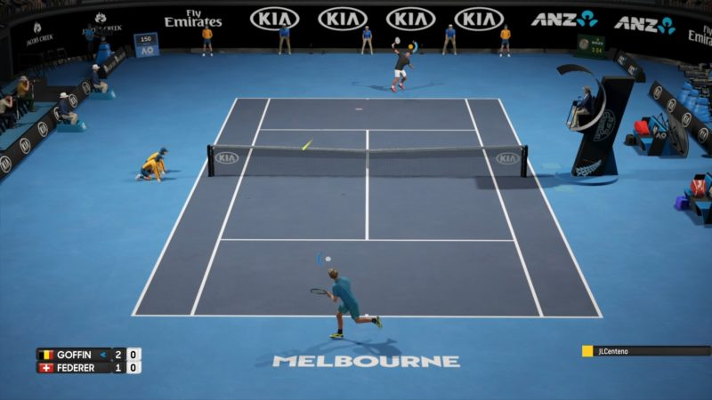 Test AO International Tennis - Match en ligne