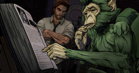 The Wolf Among Us - singe alcoolique et bouquin