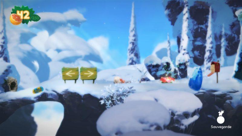 Yoku's Island Express neige