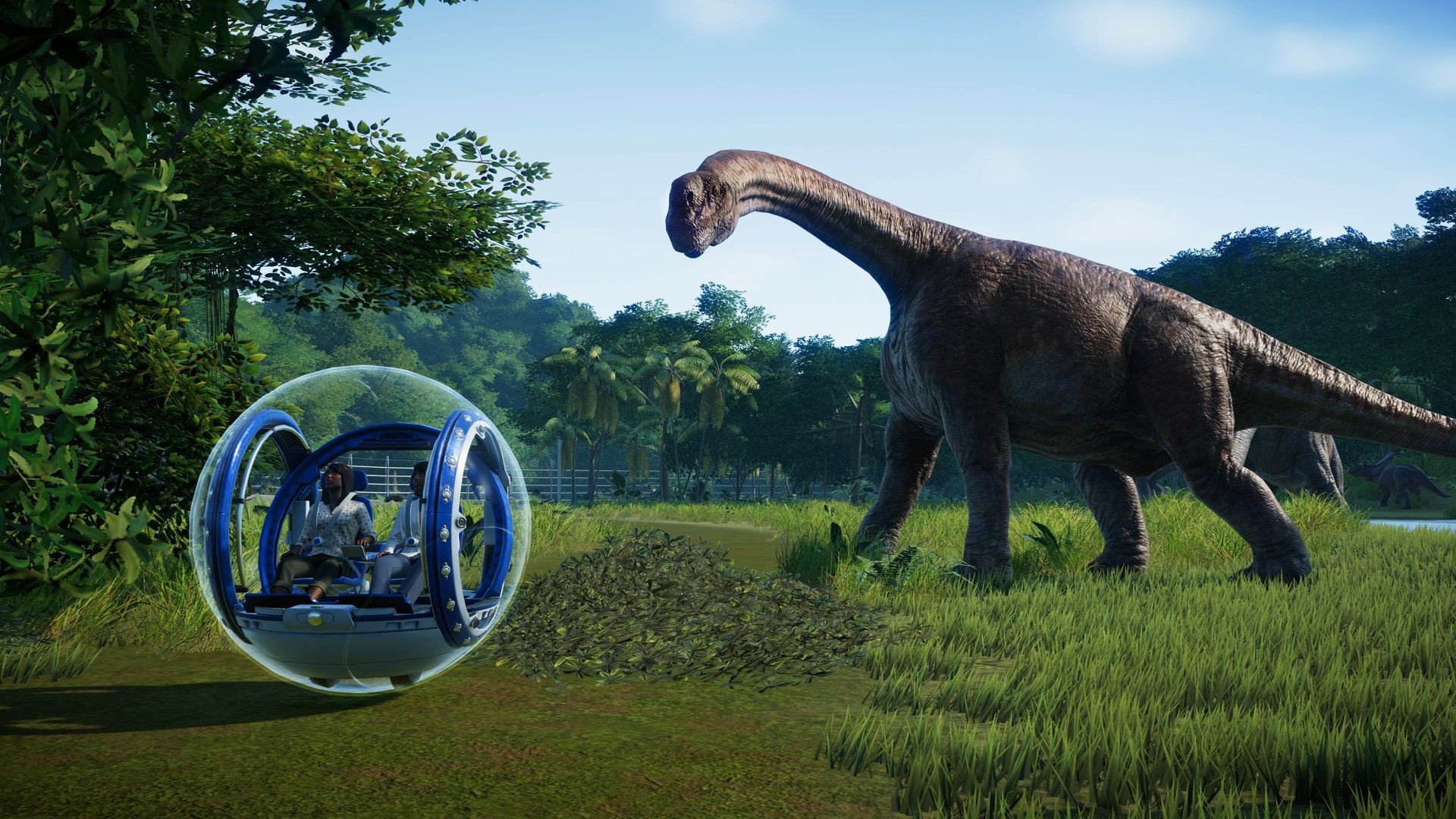 Jurassic World Evolution brachiosaure