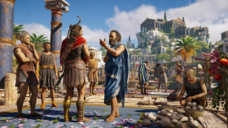 Assassin's Creed Odyssey Alexios et Socrate