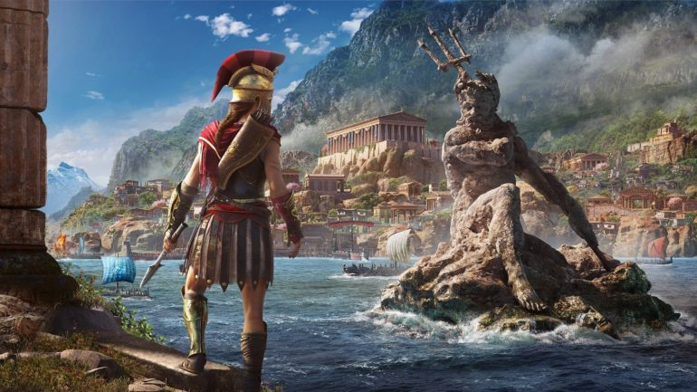 Assassin's Creed Odyssey statue de poséidon