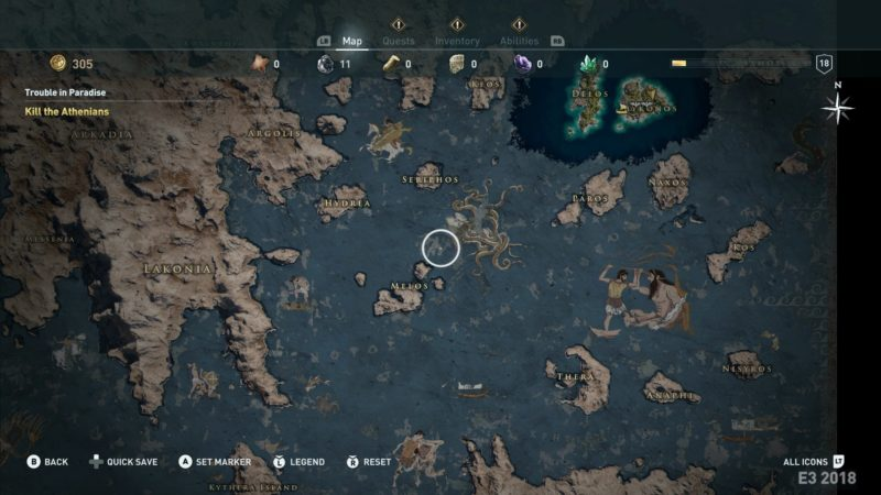 Assassins Creed Odyssey map