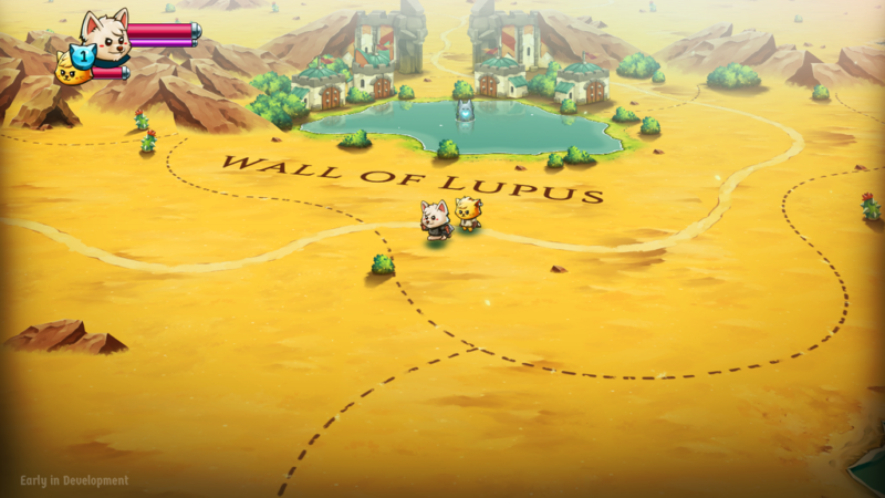 Cat Quest II: The Lupus Empire Wall of Lupus