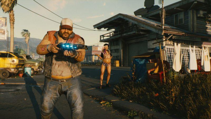 Cyberpunk 2077 redneck et fusil à pompe