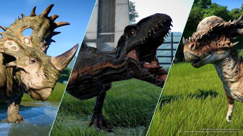 Jurassic World: Evolution herbivores et hybride