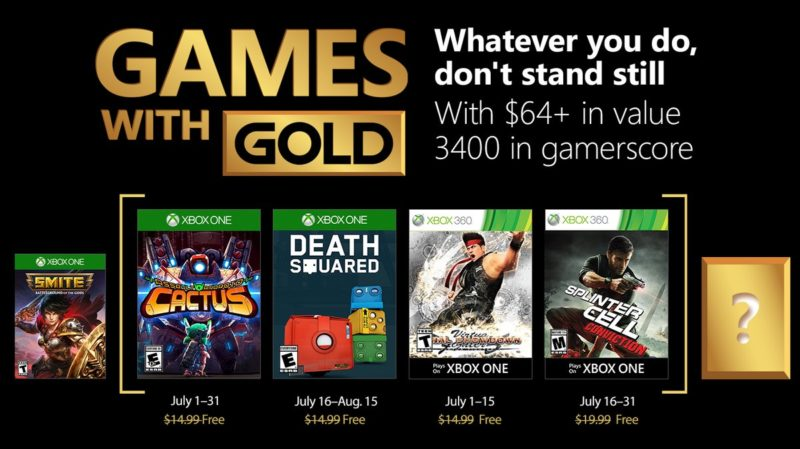 Games with gold jeux