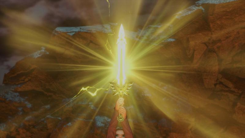Dragon Quest XI épée qui brille