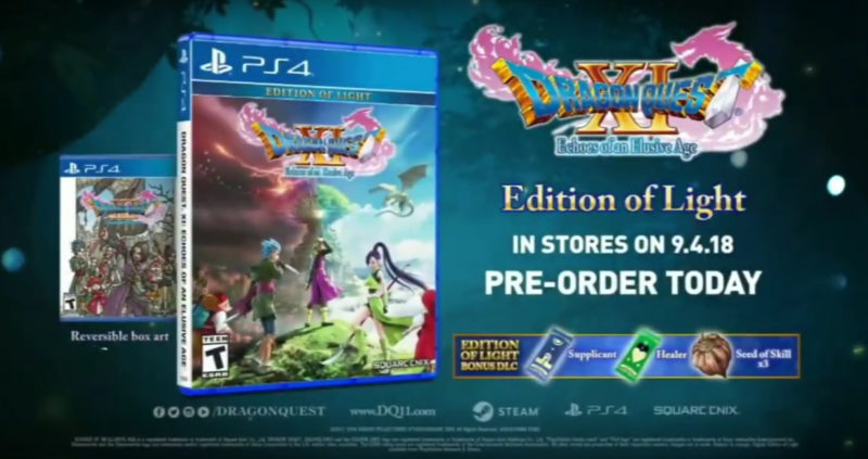 Dragon Quest XI Edition of the light