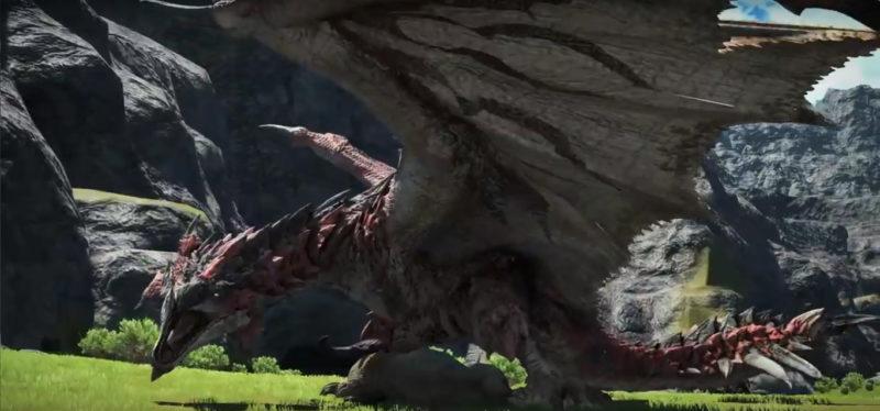 Final Fantasy XIV Monster hunter gros monstre