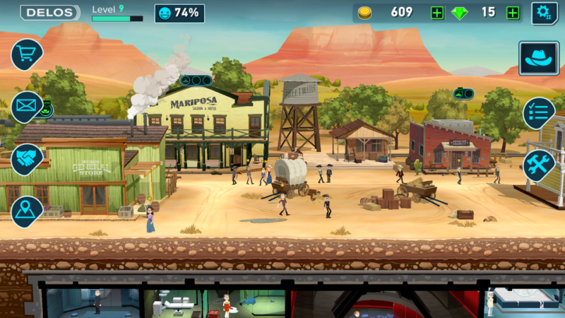 Fallout Shelter vs Westworld City Gameplay