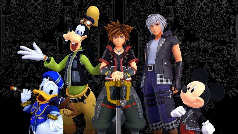 Kingdom Hearts III Sora, Donald, Dingo, Mickey et Riku prennent la pose
