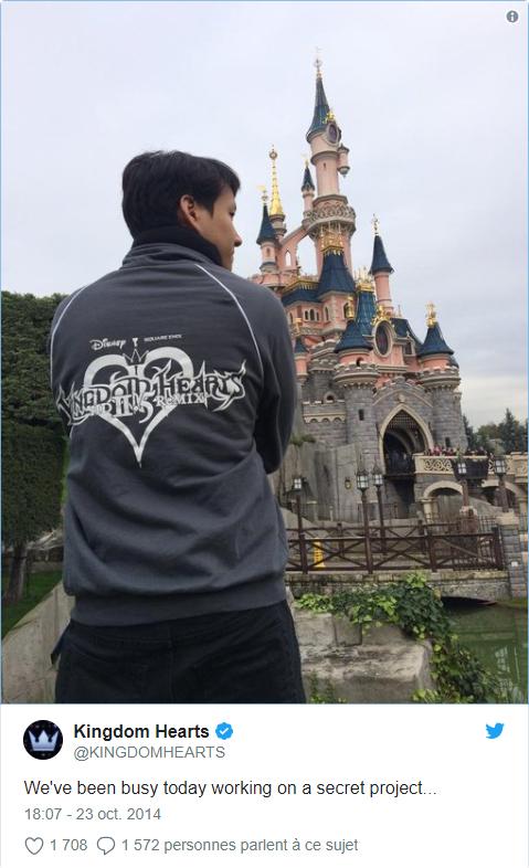 Kingdom Hearts Parcs Disney tweet