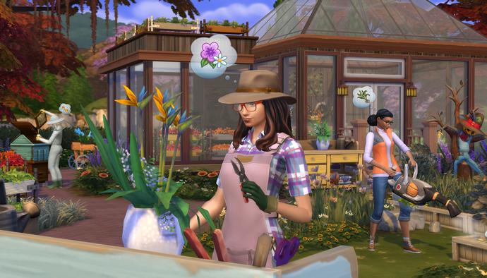 Les Sims 4 jardinage