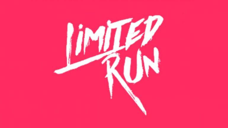 Limited Run Games - logo blanc fond magenta