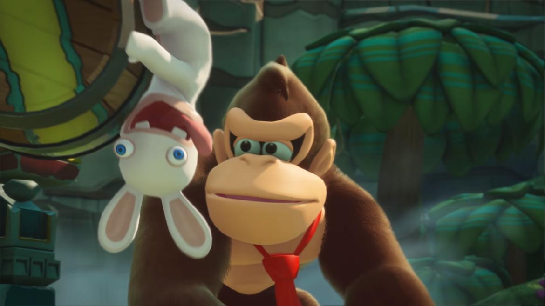 Mario + The Lapins Crétins : Kingdom Battle - Donkey Kong et lapinou