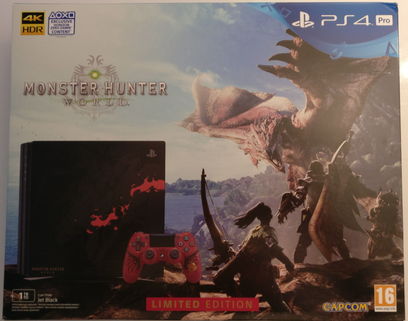 Monster Hunter World - PS4 Pro boite