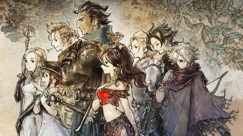 Octopath Traveler - artwork huit héros