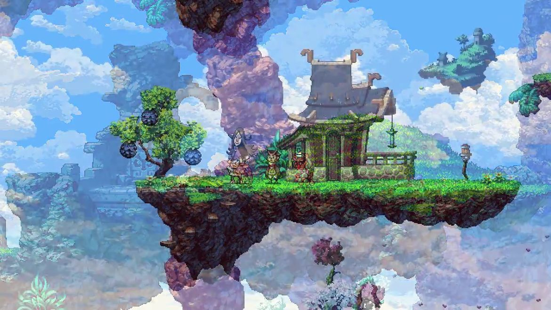 Owlboy maison dans le ciel