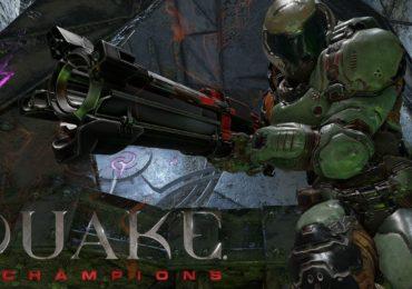 Quake Champions mec avec une arme