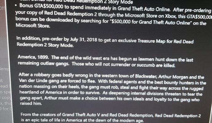 Red Dead Redemption 2 Bonus de Précommande