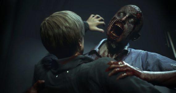 Resident Evil 2 attention zombie danger