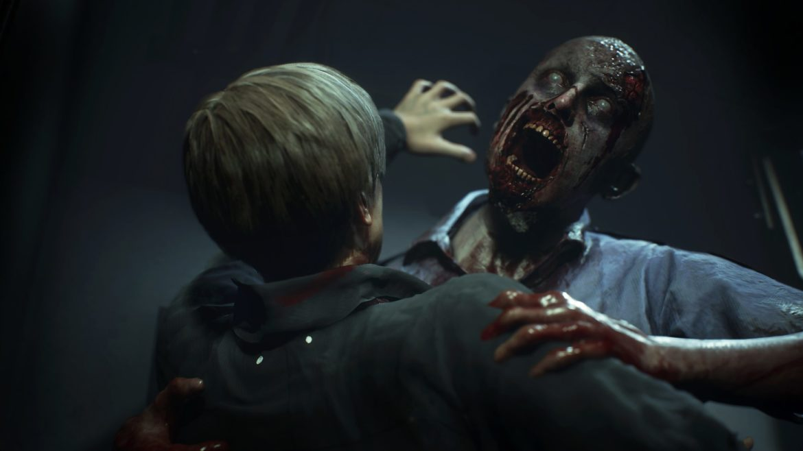 playstation 4 Resident Evil 2 attention zombie danger