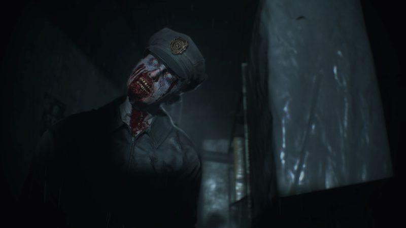 Resident Evil 2 Remake-Zombi-Policier