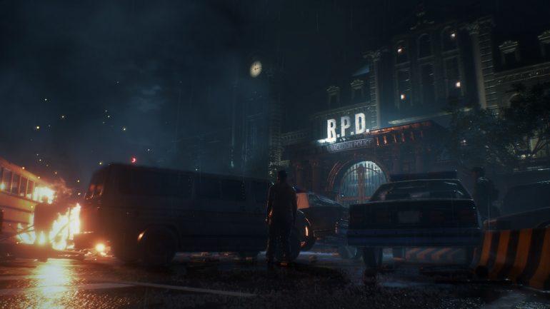 playstation 4 Resident Evil 2 Remake-commissariat-extérieur