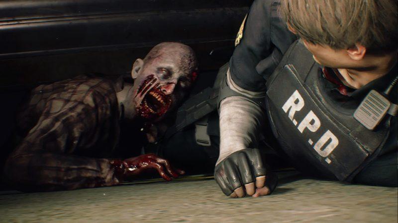 Resident Evil 2 Remake-Leon-Zombi