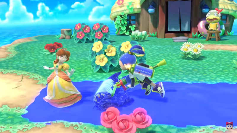 Super Smash Bros. Ultimate - esquive parfaite daisy inkling