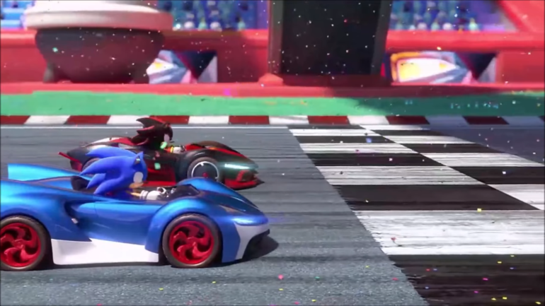 Team Sonic Racing - Course au podium